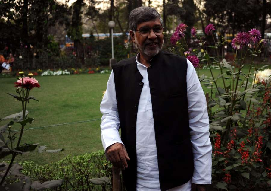 Kolkata: Nobel Laureate Kailash Satyarthi during a press conference in Kolkata on Feb 20, 2016. (Photo: IANS) by .
