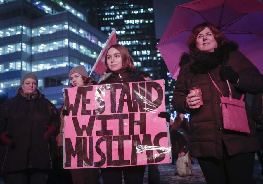 CANADA-VANCOUVER-RALLY AGAINST ISLAMOPHOBIA by .