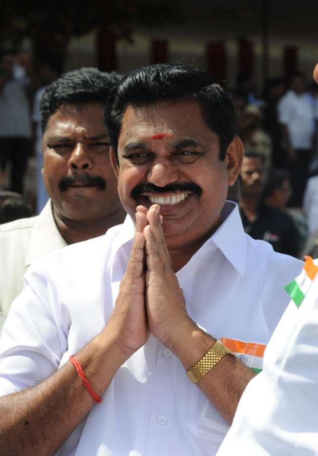 Chennai: E. Palaniswami, AIADMK General Secretary V.K. Sasikala's backer, who was invited by Governor C. Vidyasagar Rao to take oath as the new Tamil Nadu Chief Minister. (File Photo: IANS) by .