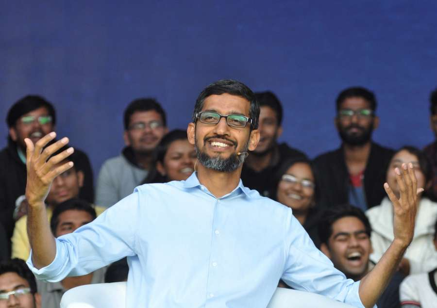 Kharagpur: Google CEO Sundar Pichai during an interactive session with students at Kharagpur IIT campus in West Bengal on Jan 5, 2017. (Photo: Kuntal Chakrabarty/IANS) by .