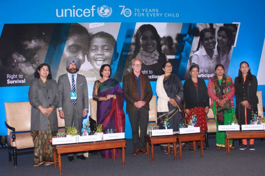 New Delhi: UNICEF Representative to India Louis-Georges Arsenault during a programme organised as part of a global celebration to mark 70th anniversary of UNICEF in New Delhi on Dec 19, 2016. (Photo: (Amlan Paliwal/IANS) by .