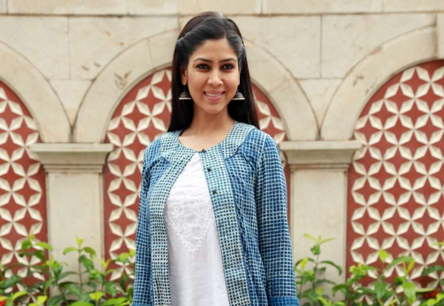 New Delhi: Actress Sakshi Tanwar during the press meet to promote the second season of serial