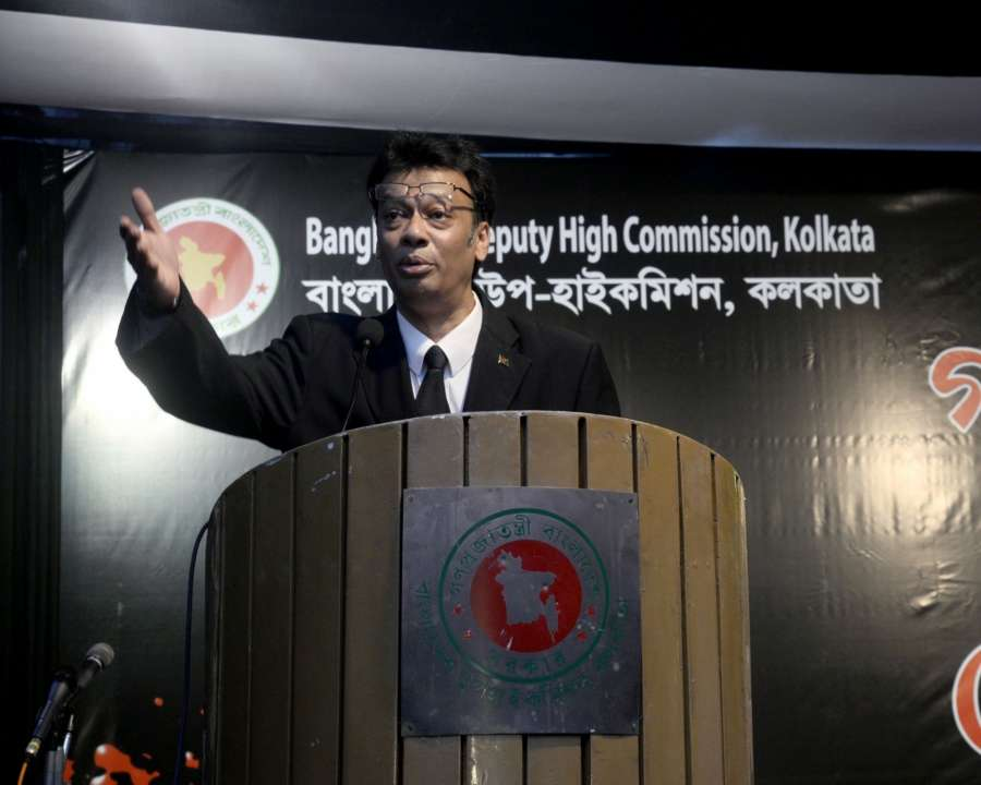 Kolkata: Bangladeshi Deputy High Commissioner in Kolkata Zokey Ahad addresses during a programme organised on