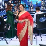 Mumbai: Actress Vidya Balan on the sets of Sony TV's singing reality show Indian Idol season 9 to promote her film Begum Jaan in Mumbai on March 21, 2017. (Photo: IANS) by .