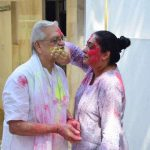 Mumbai: Lyricist and filmmaker Gulzar during Holi festival celebrations in Mumbai on March 13, 2017. (Photo: IANS) by .
