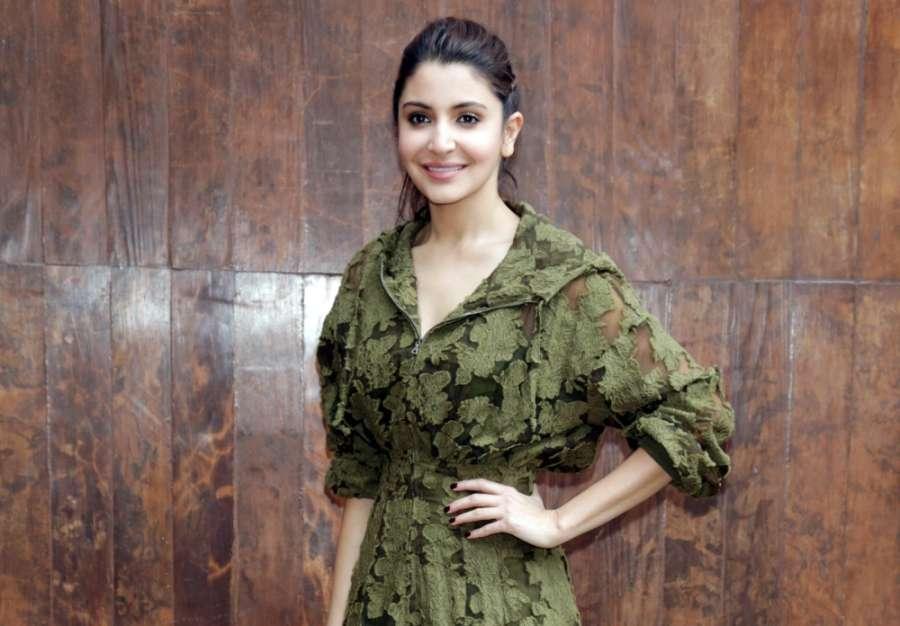 New Delhi: Actors Anushka Sharma during the promotional event of film