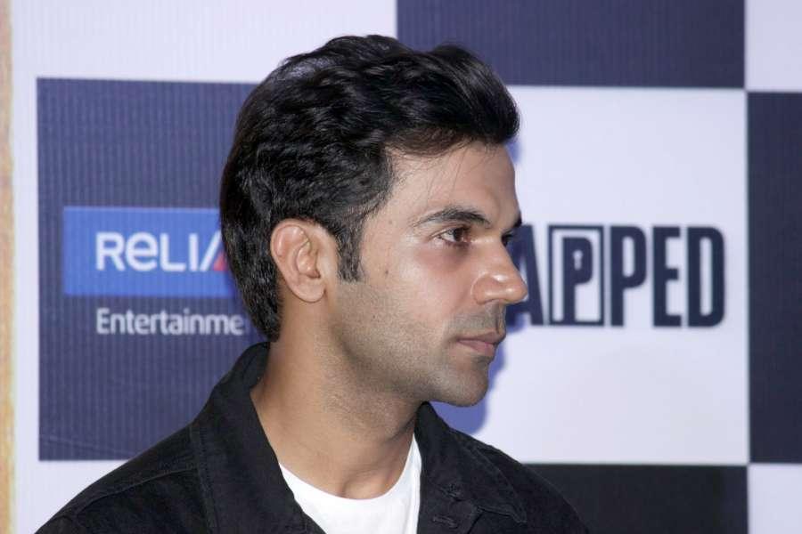 "Mumbai: Actor Rajkummar Rao during trailer launch of film ""Trapped"" in Mumbai on Feb 22, 2017. (Photo: IANS) by ."