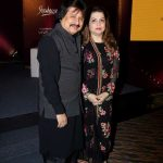 Mumbai: Ghazal singer Pankaj Udhas along with his wife Farida Udhas during the launch of his book Master on Masters in Mumbai on March 28, 2017. (Photo: IANS) by .
