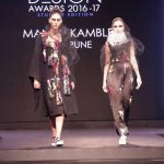 Mumbai: A Model walks the ramp during the grand finale of Max Design Awards 2016-17 in Mumbai, on March 23, 2017. (Photo: IANS) by .