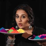 Mumbai: Actress Vidya Balan's Holi celebrations during promotion of her film Begum Jaan. (Photo: IANS) by .