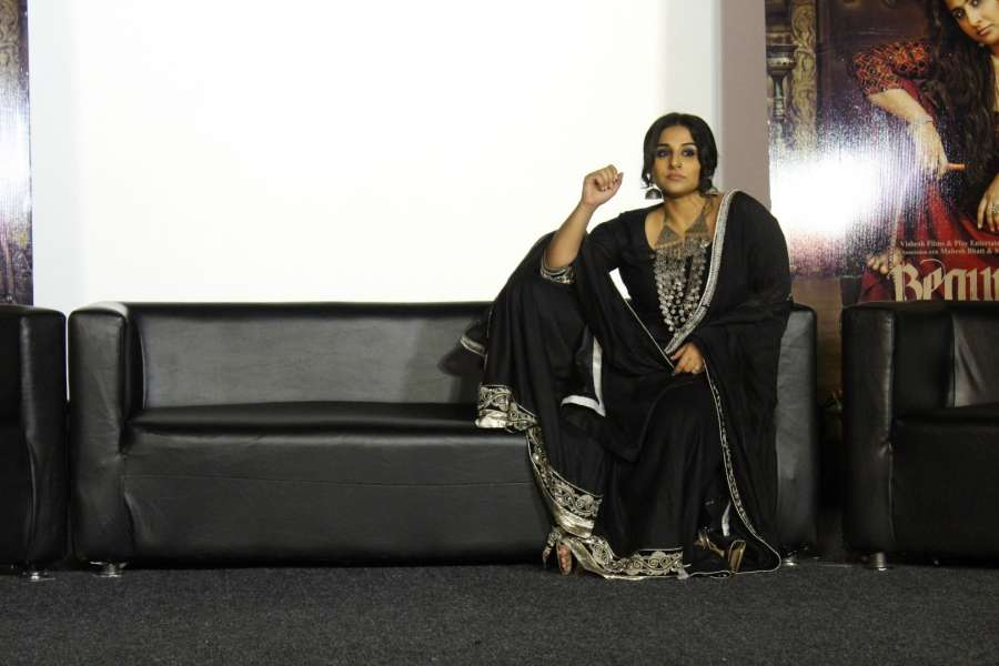 Mumbai: Actress Vidya Balan during the trailer launch of film