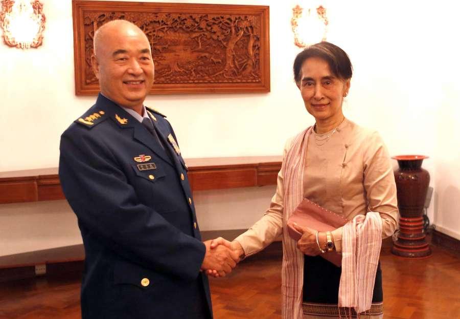 (WORLD SECTION) MYANMAR-YANGON-XU QILIANG-AUNG SAN SUU KYI-MEETING by .