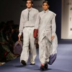 New Delhi: Model walk the ramp for fashion designers Abraham and Thakore during Amazon India Fashion Week - Autumn Winter's, in New Delhi, on March 15, 2017. (Photo: Amlan Paliwal/IANS) by .