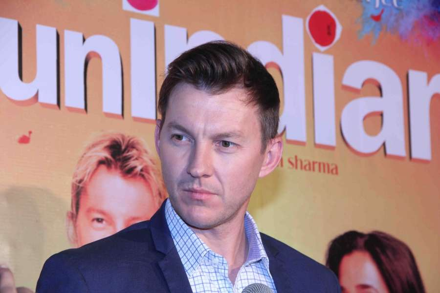 Mumbai: Former Australian cricket player turned actor Brett Lee during the promotion of upcoming film Unindian in Mumbai, on July 28, 2016. (Photo: IANS) by .