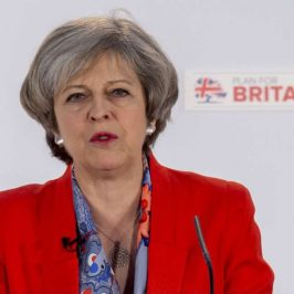 BRITAIN-CARDIFF-CONSERVATIVE PARTY-SPRING CONFERENCE-THERESA MAY by .