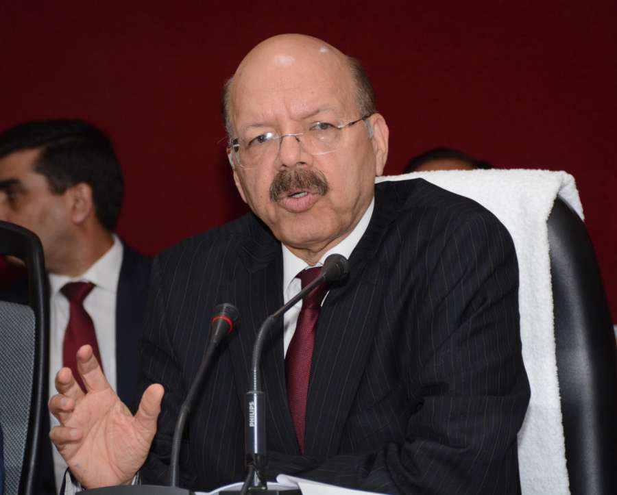 Lucknow: Chief Election Commissioner Nasim Zaidi addresses a press conference in Lucknow on Feb 9, 2017. (Photo: IANS) by .