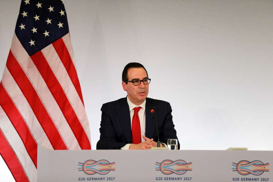 GERMANY-BADEN-BADEN-G20-U.S.-TREASURY SECRETARY-PRESS CONFERENCE by .