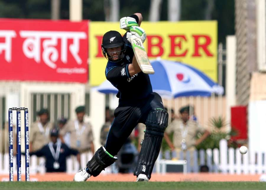 Ranchi: Martin Guptill of New Zealand in action during the fourth ODI match between India and New Zealand at JSCA International Stadium Complex in Ranchi on Oct 26, 2016. (Photo: Surjeet Yadav/IANS) by .