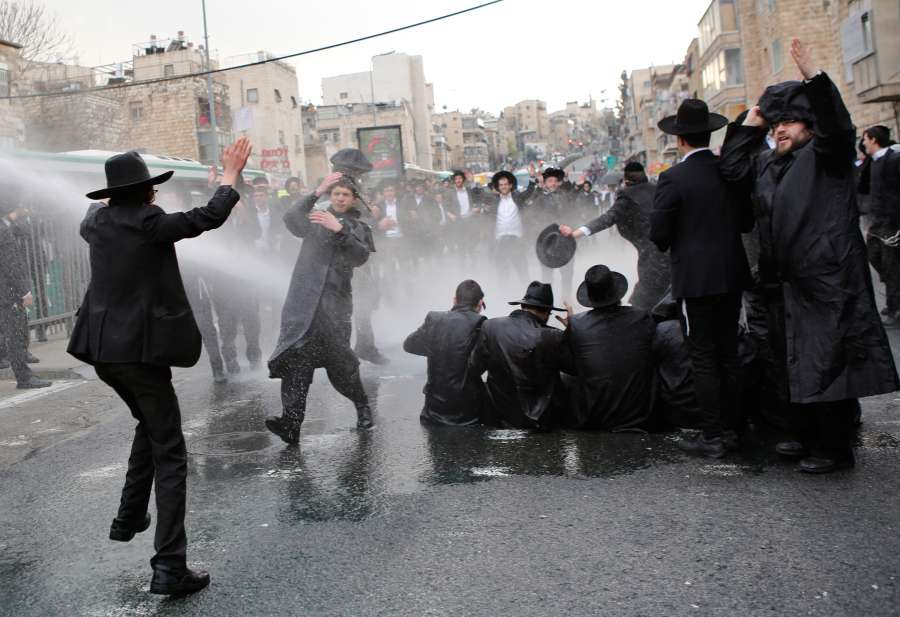 MIDEAST-JERUSALEM-ULTRA-ORTHODOX-PROTEST by .