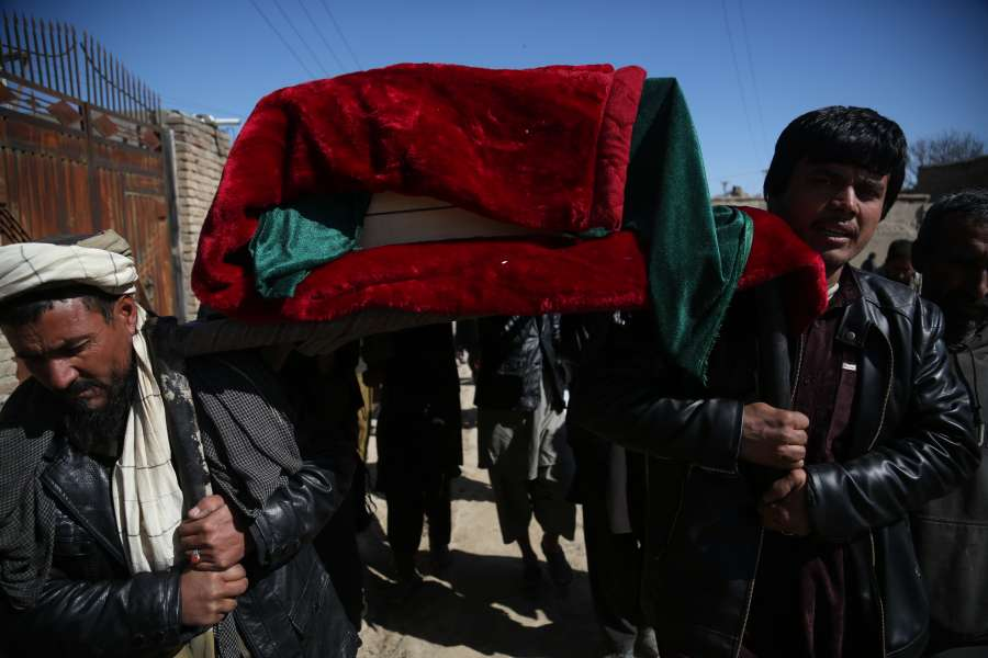 AFGHANISTAN-KABUL-ATTACK-FUNERAL CEREMONY by .