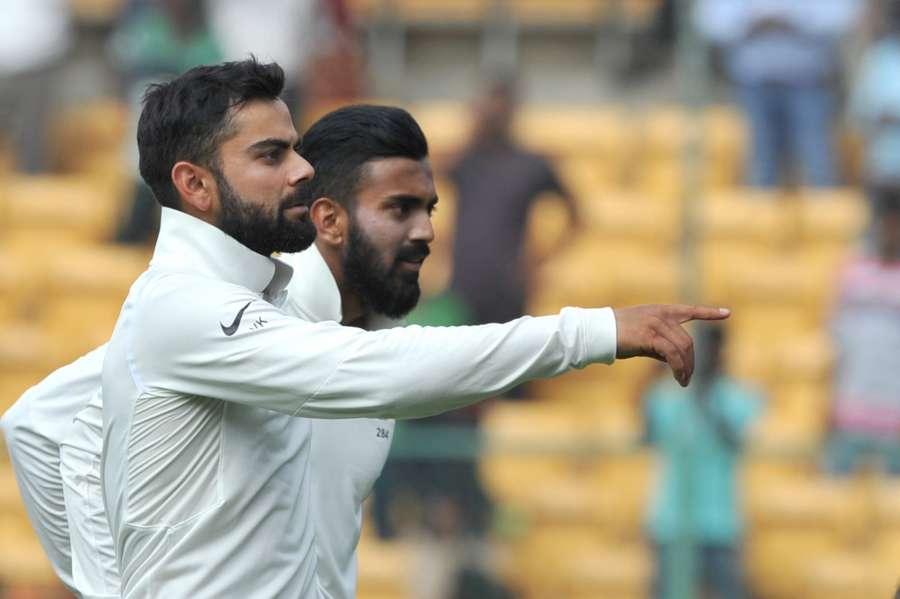 Bengaluru: Indian captain Virat Kohli celebrates after winning the second test match against Australia on Day-4 at M. Chinnaswamy Stadium in Bengaluru on March 7, 2017. (Photo: IANS) by .