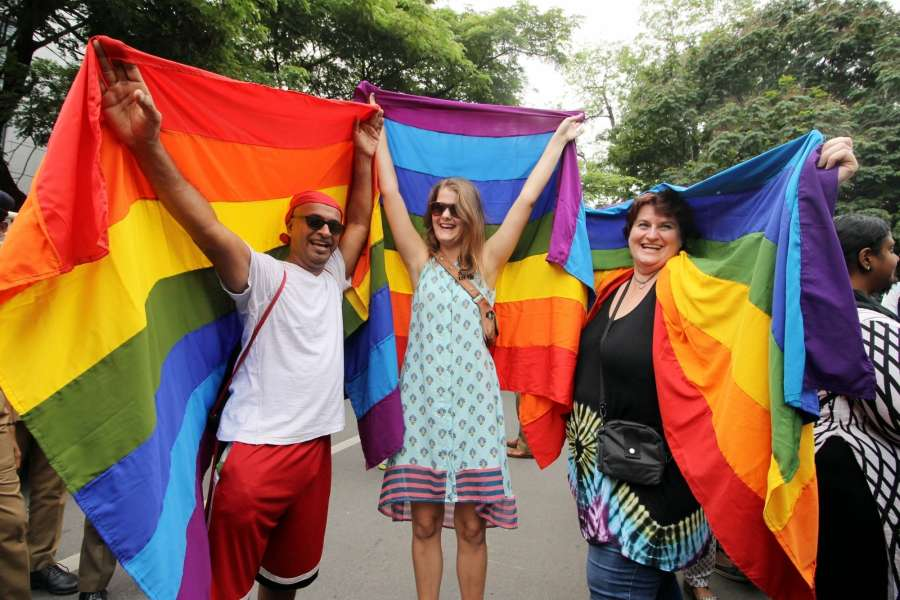 Chennai: Supporters of LGBT community participate in pride march in Chennai on June 26, 2016. (Photo: IANS) by .