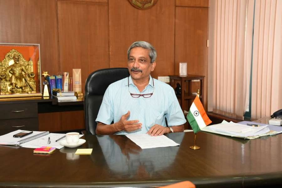 Porvorim: Manohar Parrikar takes charge as the Goa Chief Minister at Goa Secretariat in Porvorim, Goa on March 15, 2017. (Photo: IANS) by .