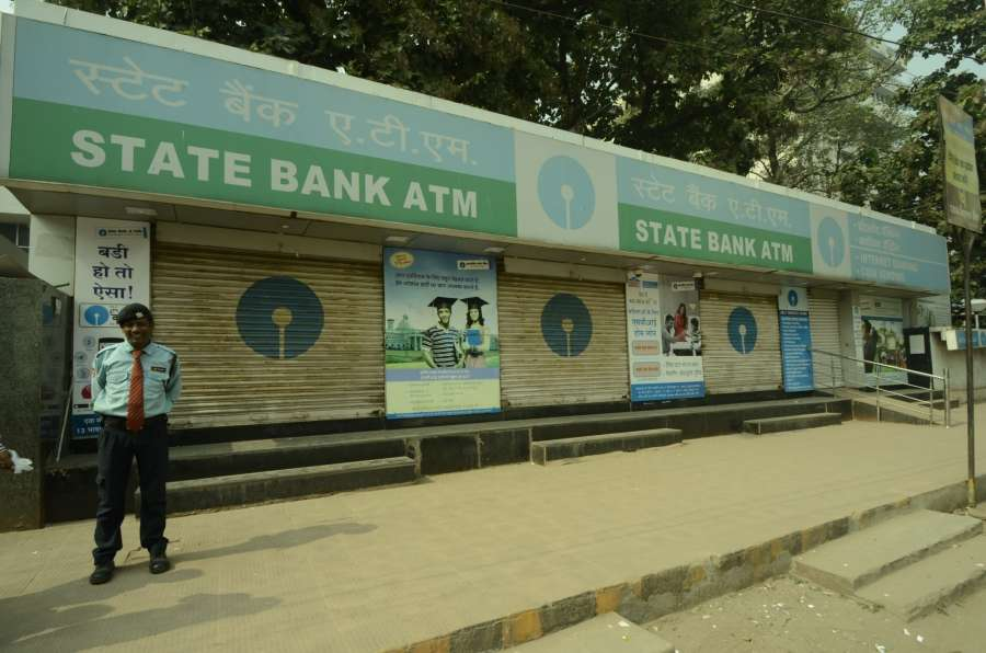 Patna: A SBI ATM kiosks closed after Prime Minister Narendra Modi announced demonetisation of Rs 1000 and Rs 500 notes making these notes invalid, in Patna on Nov. 9, 2016. (Photo: IANS) by .