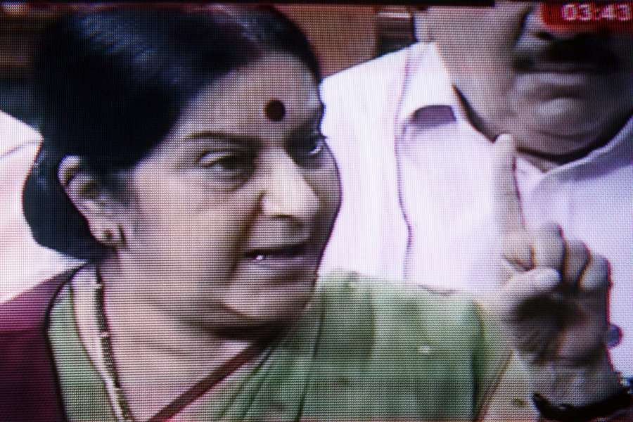 External Affairs Minister Sushma Swaraj. (File Photo: IANS) by .
