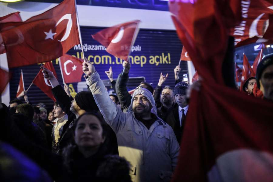 TURKEY-ISTANBUL-DUTCH CONSULATE-PROTEST by .