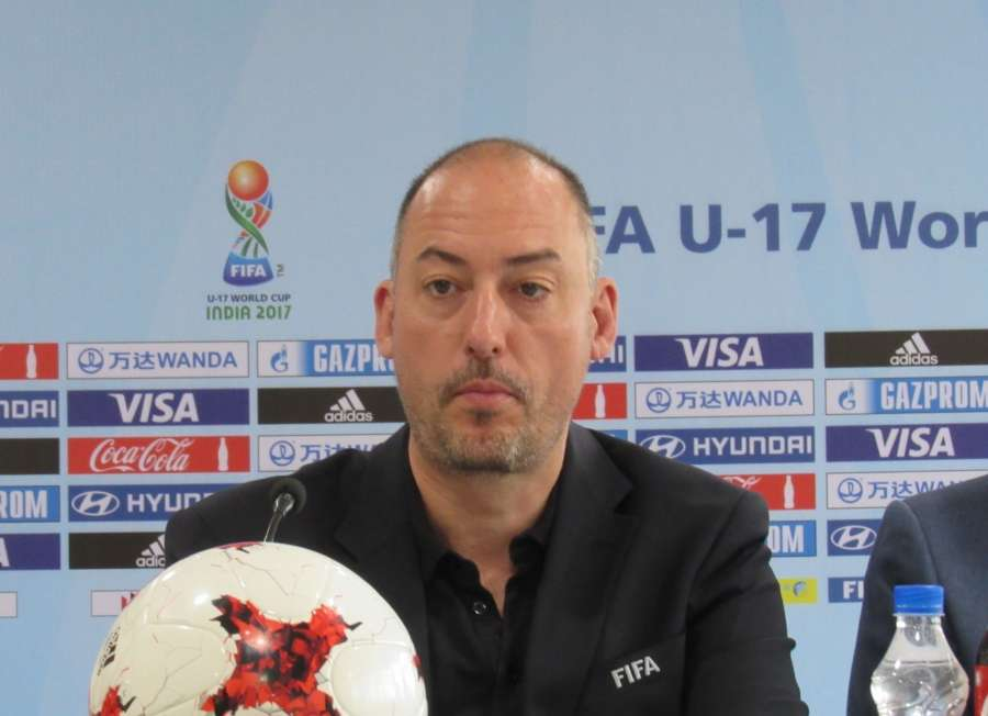 New Delhi: FIFA - Head of Tournaments -U-17 World Cup- Jaime Yarza addresses a press conference in New Delhi on March 22, 2017. (Photo: IANS) by .
