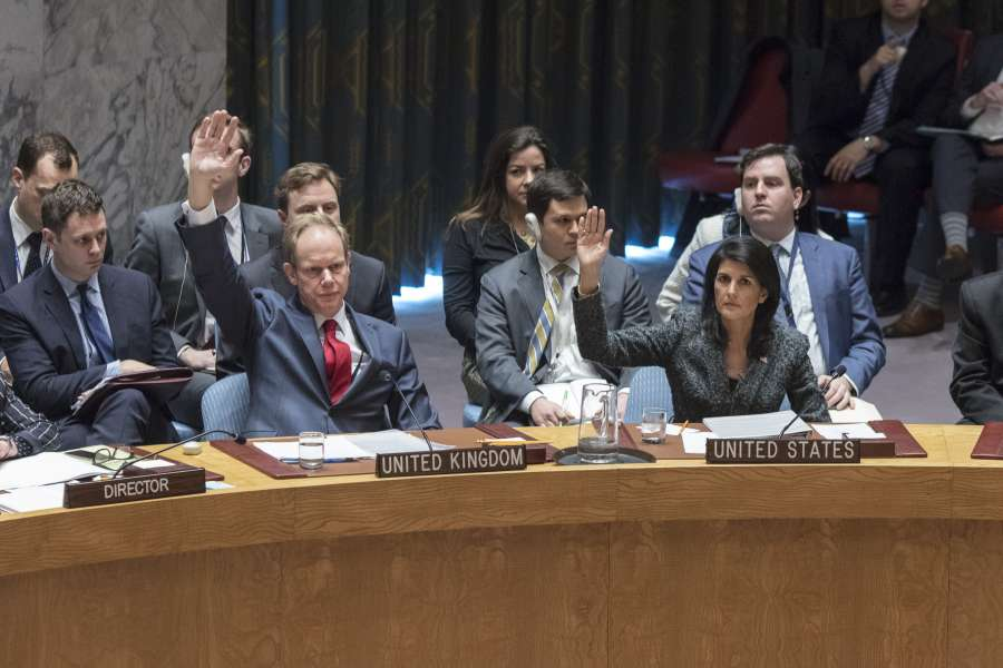 UN-SECURITY COUNCIL-SYRIA SANCTIONS-CHEMICALS WEAPONS-RESOLUTION-FAILING by .