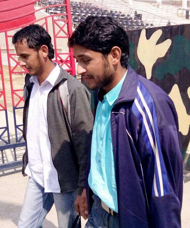 Attari: Two Pakistani youths Faisal Hussain Awan and Ahsan Khursheed, who were initially suspected to have acted as