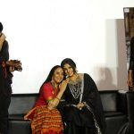 "Mumbai: Actors Vidya Balan and Ila Arun during the trailer launch of film ""Begum Jaan"" in Mumbai on March 14, 2017. (Photo: IANS) by ."