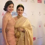 Mumbai: Actress Anushka Sharma and Rekha during the Red Carpet of Hello Hall of Fame Awards 2017 in Mumbai on March 28, 2017. (Photo: IANS) by .