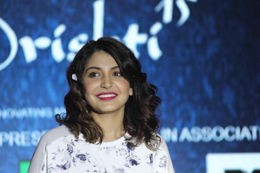 Mumbai: Actor Anushka Sharma during the promotion of film NH10 in Mumbai on Feb 17, 2015. (Photo : IANS) by .
