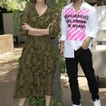 """New Delhi: Actors Anushka Sharma and Diljit Dosanjh during the promotional event of film """"Phillauri"""" in New Delhi on March 21, 2017. (Photo: Amlan Paliwal/IANS) by ."""