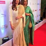 Mumbai: Actress Twinke Khanna and her mother Dimple Kapadia during the Red Carpet of Hello Hall of Fame Awards 2017 in Mumbai on March 28, 2017. (Photo: IANS) by .