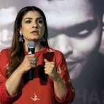 """New Delhi: Actress Raveena Tandon during a press conference to promote her upcoming film """"Maatr"""" in New Delhi on April 20, 2017. (Photo: Amlan Paliwal/IANS) by ."""