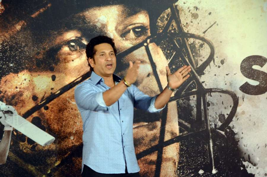 "Mumbai: Cricket legend Sachin Tendulkar at the trailer launch of ""Sachin A Billion Dream"" - a biographical film on him in Mumbai on April 13, 2017. (Photo: IANS) by ."