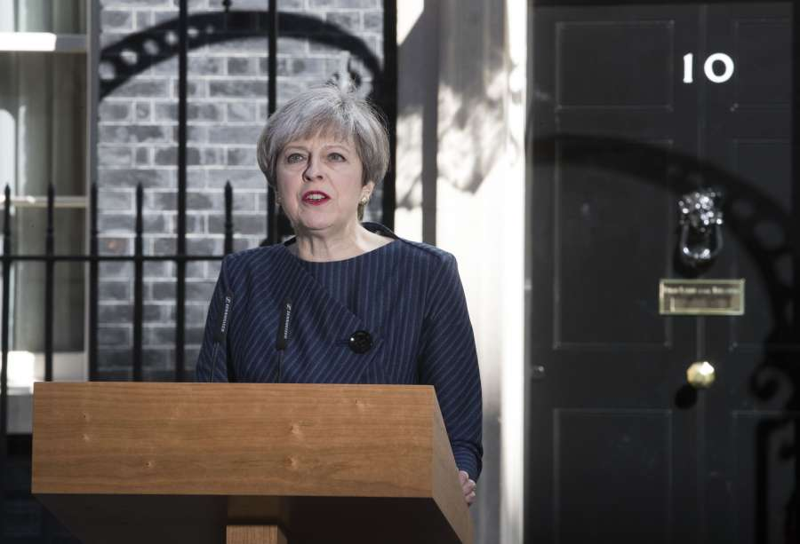 BRITAIN-LONDON-PRIME MINISTER-SNAP GENERAL ELECTION by .