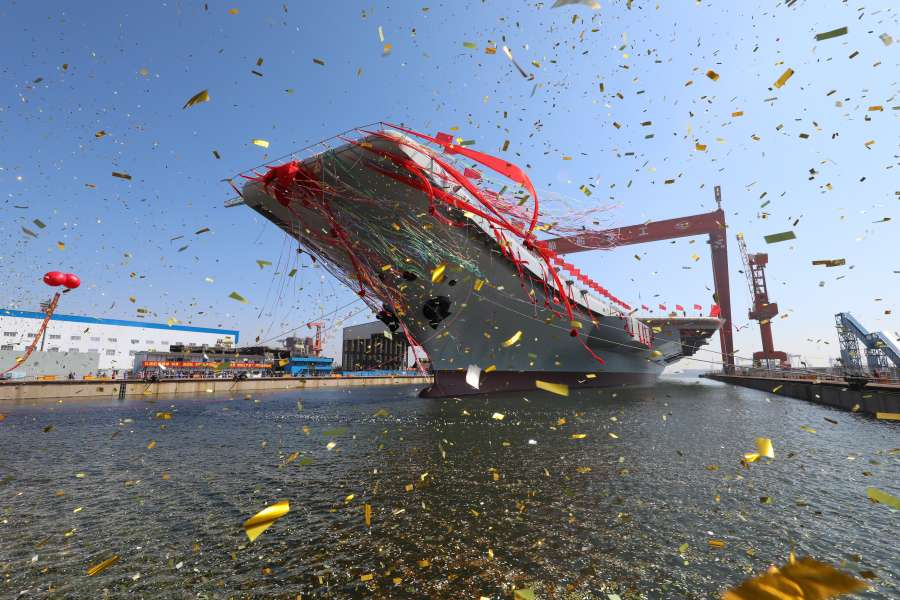 CHINA-DALIAN-AIRCRAFT CARRIER-LAUNCH CEREMONY (CN) by .
