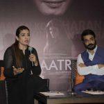 "Kolkata: Actors Raveena Tandon and Prosenjit Chatterjee during promotion of film ""Maatr"" in Kolkata, on April 21, 2017. (Photo: Kuntal Chakrabarty/IANS) by ."