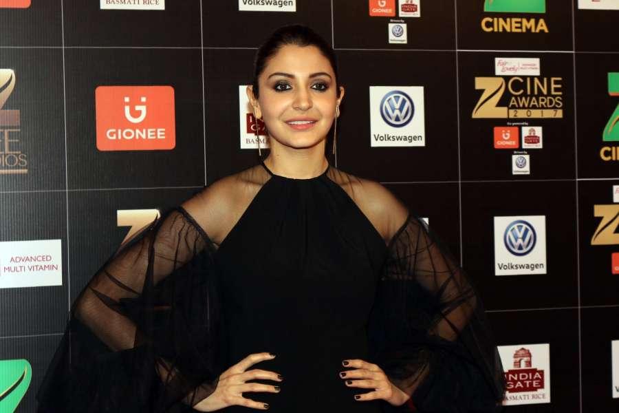 Mumbai: Actress Anushka Sharma during the Fair & Lovely Zee Cine Awards 2017 in Mumbai on March 11, 2017. (Photo: IANS) by .