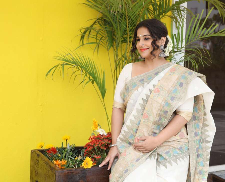 New Delhi: Actress Vidya Balan inauguration a new section of Gaurang Shah's store in New Delhi, on March 16, 2017. (Photo: IANS) by .