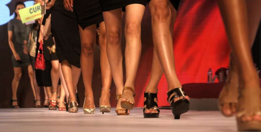 New Delhi: Models walk the ramp during Bata Fashion Show in New Delhi on May 2017. (Photo: IANS) by .