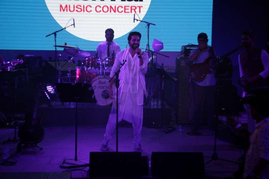 Mumbai: Actor Ayushmann Khurrana during film Meri Pyaari Bindu music concert in Mumbai on May 6, 2017. (Photo: IANS) by .
