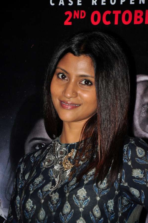 Mumbai: Actress Konkona Sen Sharma during the trailer launch of film Talvar in Mumbai on Aug 22, 2015. (Photo: IANS) by .