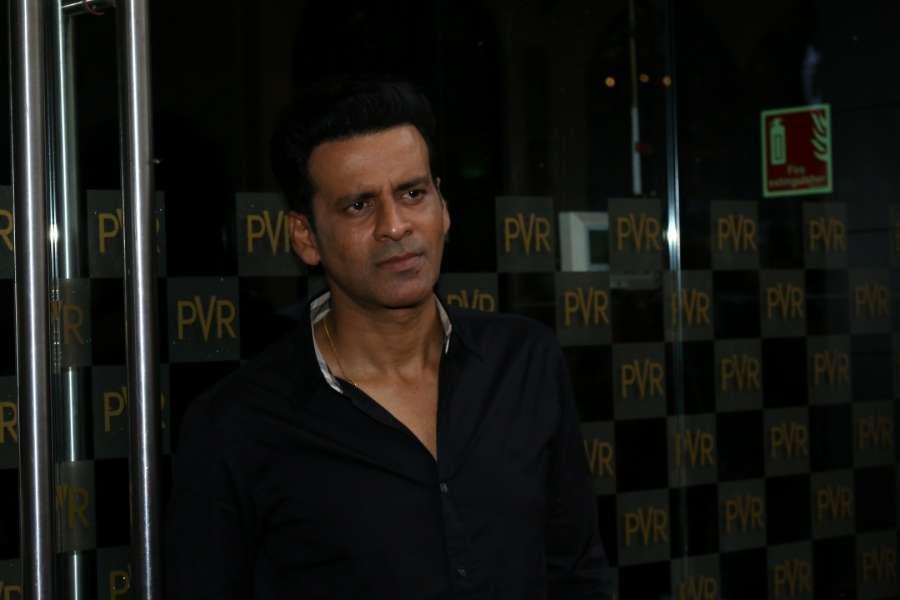 "Mumbai: Actor Manoj Bajpayee during the special screening of film ""Naam Shabana"" in Mumbai on April 5, 2017. (Photo: IANS) by ."
