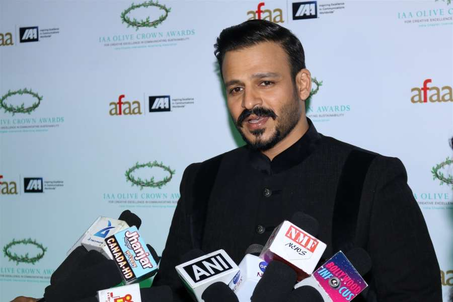 Mumbai: Actor Vivek Oberoi during the International Advertising Association (IAA) - India Chapter Olive Crown Awards 2017 in Mumbai on March 15, 2017. (Photo: IANS) by .